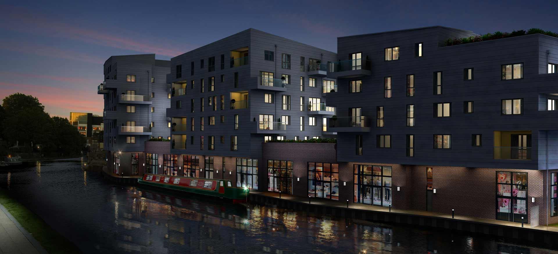 Apartment Exterior CGI Night