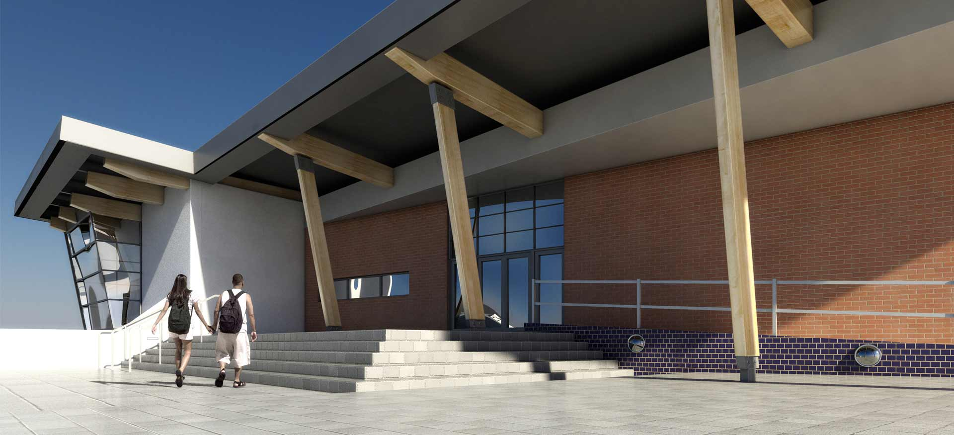 High School Exterior CGI