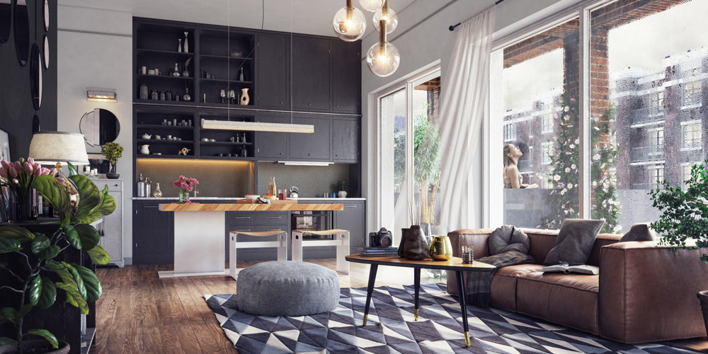 Living Room Interior CGI