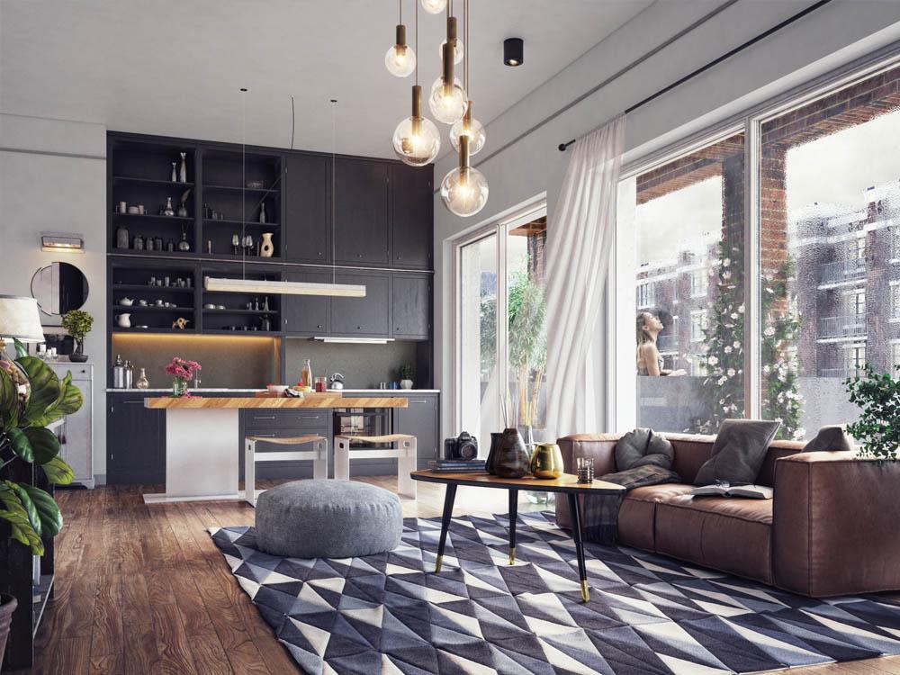 Living Room Interior CGI