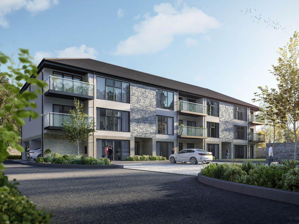 Apartment Block Exterior CGI