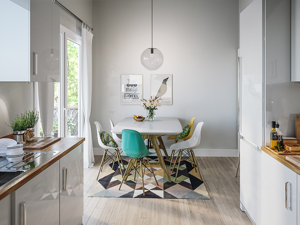 Large Kitchen Interior CGI