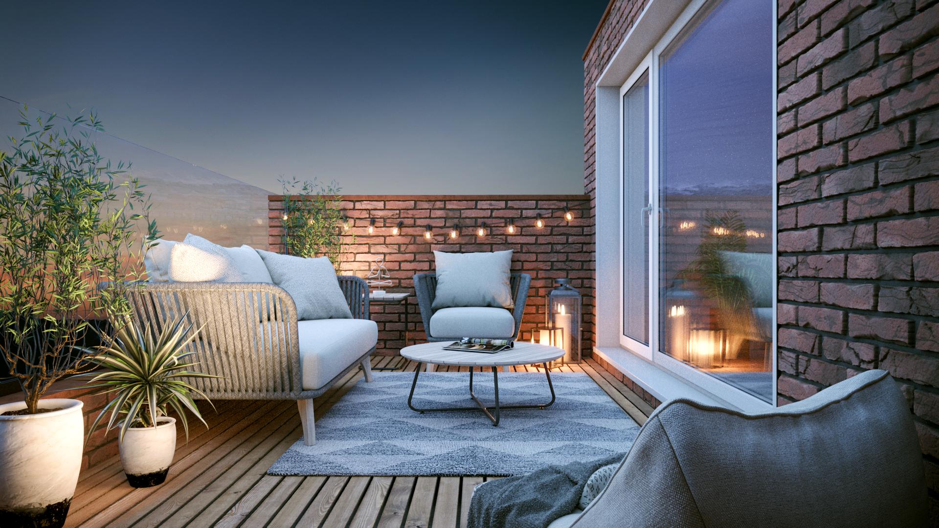 Designer balcony CGI