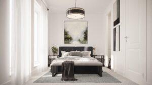 Bedroom 3D interior render
