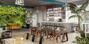 Biophilia Example - cafe bar